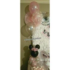 Minnie Mouse Wonderland Theme Balloon Centerpiece Balloon Centerpieces, Birthday Balloons, Minnie Mouse, Wonderland, Home Decor, Homemade Home Decor, Interior Design, Home Interiors, Decoration Home
