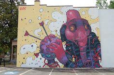 muse street art graffiti, art и st Inspiration Drawing, Art Journal Inspiration, Creative Inspiration, Street Mural, Street Art Graffiti, Art Studio Organization, Graffiti Murals, Street Artists, Urban Art
