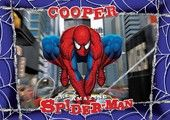 Make mealtime fun and keep your table free from scratches, spills and crumbs with this colorful Spider-Man Personalized Placemat.  These personalized placemats are also great to use for other activities such as painting or playdough as they are easy to wipe clean.   Placemat measures 42cm x 29.5 cm (A3)  Image and Personalization on BOTH sides  Fully Laminated  Maximum 12 characters.  Due to the detailed personalization of this product please allow 3 to 4 weeks for delivery.