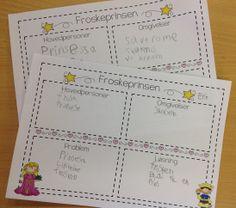 """PY 1 Uke 15: Vi har hørt eventyret Froskeprinsen og lært oss ordene """"hovedperson"""" og """"omgivelser"""", og pratet mye om hvilke problemer og løsninger som finnes i eventyret. Vi gleder oss til å sette sammen alt arbeidet vårt om eventyr i en egen eventyrbok:) Grammar, Bullet Journal, Teaching, Education, 2nd Grades, First Grade, Onderwijs, Learning, Tutorials"""