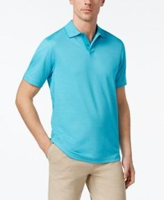 Tasso Elba Men's Classic-Fit Supima Blend Cotton Polo, Created for Macy's - Blue XXL