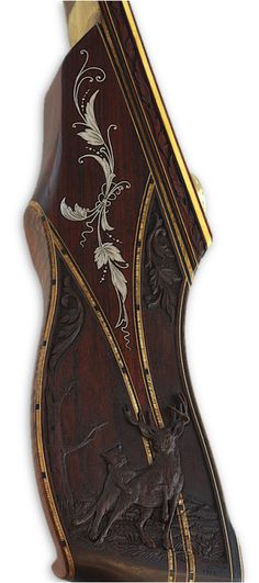 Blacktail carved recurve bow