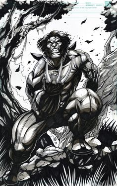 Wolverine INKED Comic Art