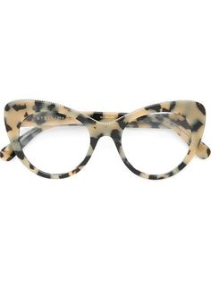 Shop Stella McCartney 'Havana' cat-eye glasses.