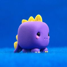 Dino Cube Polymer Clay♥ can I do it in fondant????