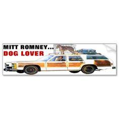 MITT ROMNEY... DOG LOVER BUMPER STICKER