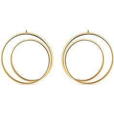 Maison Margiela Fine Jewellery 'Anamorphose' 18k yellow gold large... ($2,560) ❤ liked on Polyvore featuring jewelry, earrings, metallic, gold twist earrings, 18k earrings, christmas jewelry, 18k gold earrings and earrings fine jewelry