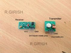 The post explains an Arduino based wireless thermometer circuit for receiving temperature date from a remotely location using 433 MHz RF modules Pi Projects, Arduino Projects, Circuit Projects, Electronics Components, Diy Electronics, Electronics Projects, Arduino Wireless, Arduino Radio, Arduino R3