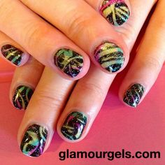 """""""Little Black Dress"""" with a flare! www.glamourgels.com"""