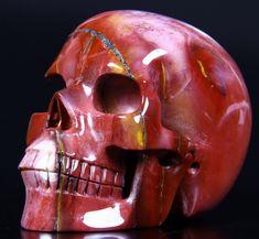 5.2 Inch Superb Mookaite Jasper Skull Carving skull, gemstone skull carving, skull gemstone, crystal gemstone,mayan skull,