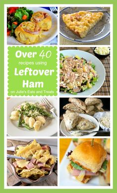Here are over 40 recipes using leftover ham including everything from ham salad and pasta to scones and breakfast bars!