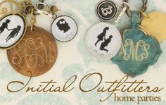 Silhouette charms from IO!  Love!  http://www.initialoutfitters.net/LindsayHayes