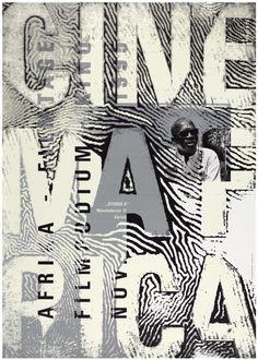 Ralph Schraivogel   Cinemafrica [poster for the Film-Podium Zurich, 1995]   http://www.a-g-i.org/member-work/profile/435