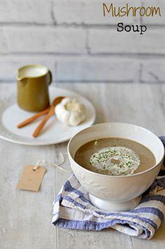 Vegan cream of Mushroom soup recipe – The Veggie Indian