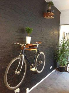 Bike Storage Apartment Diy Shelves 23 New Ideas Bike Storage Home, Bike Storage Apartment, Bicycle Storage, Garage Storage, Diy Storage, Bike Storage Office, Wall Mount Bike Rack, Range Velo, Bike Hanger