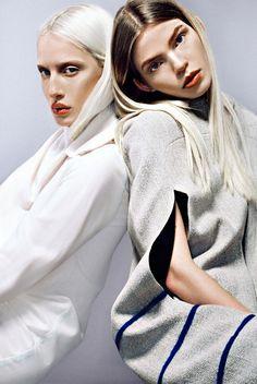 http://ntemp.tumblr.com design: Maria Gavryluk MUA - Alexandra Shtein photo postprod. - Nastia Temp  models: Sasha Popruga, Olimpia Whitemustache