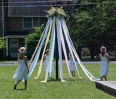 LOVE Birkin's 1st birthday tradition... a maypole!