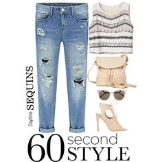 60 Second Style: Daytime Sequins by samang on Polyvore featuring Aquazzura, See by Chloé, Fendi and Sequins