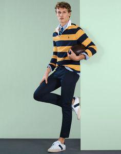 men's outfits – High Fashion For Men Polo Shirt Outfits, Polo Outfit, Preppy Outfits, Summer Outfits, Moda Preppy, Preppy Boys, Preppy Mens Fashion, Men Fashion Show, Mens College Fashion