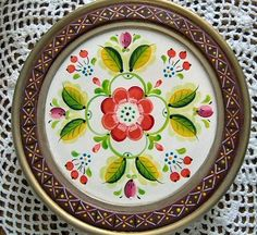 styles of rosemaling | OS Style Glass Lined Plate Pattern