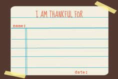 Thanksgiving Memory Card printable- free. Perfect for your Memory Kit, and as a dinner table activity.