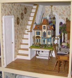 My Beacon Hill Dollhouse 30 - My Beacon Hill Dollhouse - Gallery - The Greenleaf Miniature Community Village Miniature, Miniature Rooms, Miniature Crafts, Miniature Houses, Dollhouse Design, Dollhouse Miniatures, Dollhouse Ideas, Doll Furniture, Dollhouse Furniture