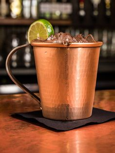 This beautiful hand-hammered Copper Mexican Mule Mug is essential barware for making your favorite Mule drinks at home. Made from 100% heavy gauge pure copper.