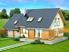 DOM.PL™ - Projekt domu DN Lisandra 2M CE - DOM PC1-60 - gotowy koszt budowy Malaga, Home Fashion, Thrifting, Home Goods, Shed, Room Decor, Outdoor Structures, Cabin, House Styles