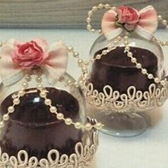 I like the rose, ribbon bow with pearls on top Wedding Favours, Party Favors, Wedding Gifts, Tea Favors, Mini Cupula, Bridal Shower, Baby Shower, Baptism Party, Paris Party