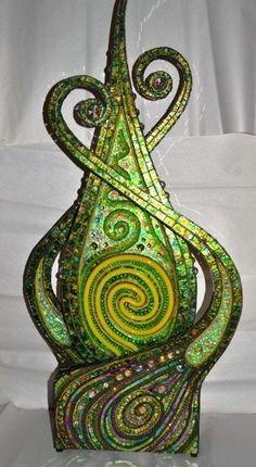 Mosaic art mosaic sculpture &