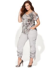 Style Plus Size Pants, Cargo Capri - Plus Size Capris - Plus Sizes ...