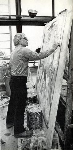 https://flic.kr/p/2XP3Zf | Willem de Kooning in his studio 1972