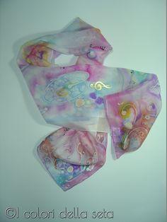 Batik, sciarpa in seta dipinta a mano https://www.facebook.com/Icoloridellaseta