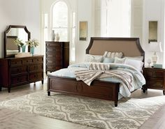 Our Windsor Queen Bedroom Set is the perfect place for cozying up when the weather turns cold. | FFO Home