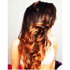 brown ombre curls