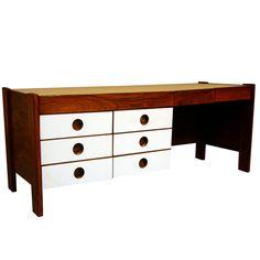 Slender Rosewood desk by Jorge Zalszupin for L'atelier | 1stdibs.com
