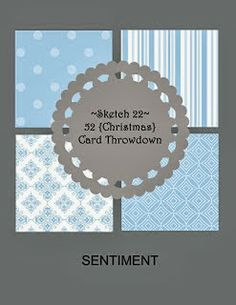 cardmaking sketch ... four panel on a rectangle with circle focal point ...