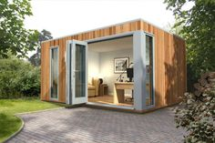 1000 images about tuinhuizen tuinkantoren gastenverblijf on pinterest tuin backyard for Home office ideeen