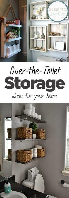 60 trendy bathroom storage ideas over toilet design Bathroom Storage Over Toilet, Bathroom Hacks, Bathroom Organization, Bathroom Ideas, Storage Organization, Bathroom Mirrors, Design Bathroom, Bathroom Cabinets, Organizing Ideas