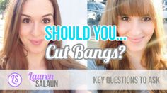 Key questions to ask yourself before you cut bangs. #bangs #hairstyles #hair #hairtrends