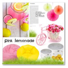 """Pink Lemonade"" by mariarty ❤ liked on Polyvore featuring interior, interiors, interior design, home, home decor, interior decorating, Flash Furniture and Ace Bayou"