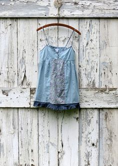 Summer Chic Garden Top upcycled spaghetti strap by wearlovenow, $25.99