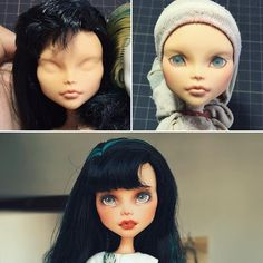 Cleo,before & after~❤#monsterhigh#repaint#dollrepaint #ooak#faceup #everafterhigh #ooakdoll #monsterhighrepaint #artdoll #everafterhigh #cleo #eah #mh