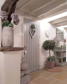 Country # # # landhaus- # # lan Entryway and Hallway Decorating Ideas Country Kitchen lan Landhaus Hallway Decorating, Home, Cottage Homes, Rustic Country Kitchens, House Interior, Cottage Interiors, Barn Interior, French Farmhouse Style, New Kitchen Designs
