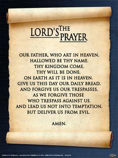 Spanish The Lord's Prayer Poster - Catholic to the Max - Online Catholic Store Prayer Verses, Bible Prayers, Faith Prayer, Catholic Prayers, God Prayer, Catholic Theology, Catholic Religion, Rosary Catholic, Catholic Art