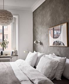 Simple bedroom with a mineral paint – rustic home interior Decoration Hall, Decoration Photo, Decoration Christmas, Decoration Bedroom, Decoration Inspiration, Decoration Design, Interior Inspiration, Home Decor Quotes, Home Decor Signs