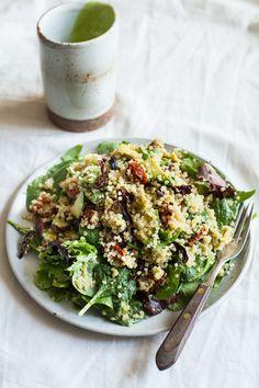 Quinoa BLT Salad with Shiitake Bacon
