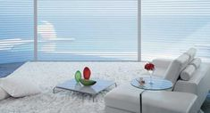 Hunter Douglas, Chimenea A Gas Natural, Blinds, Curtains, Rugs, Home Decor, Silhouette, Modern Blinds, Big Windows