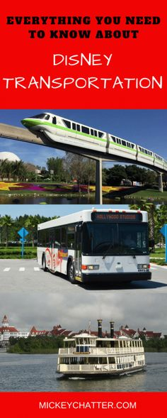 All the details you NEED to know about Disney Transportation!