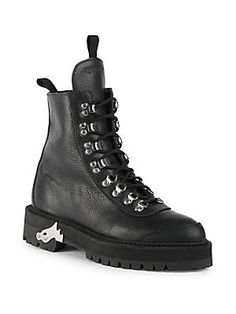 5470af9151eb Off-White - Leather Hiking Boots